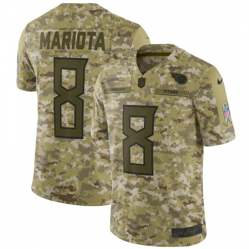 Men NFL Tennessee Titans MARIOTA Camouflage Jersey