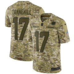 Men NFL Miami Dolphins TANNEHILL Camouflage Jersey