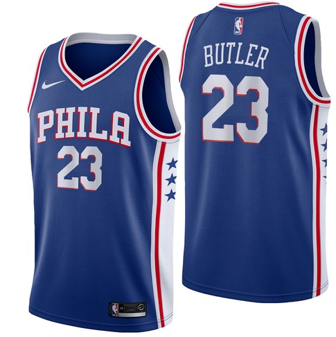 Men NBA Philadelphia 76ers #23 Jimmy Butler Simmons Swingman City Edition Jersey