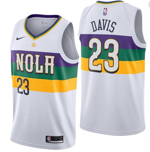 Men NBA New Orleans Pelicans #23 Davis Simmons Swingman City Edition Jersey