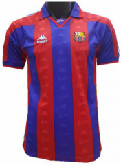 1996-1997 Barcelona Home Retro Soccer Jersey Shirt