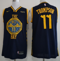 Men NBA Golden State Warriors #11 THOMPSON Simmons Swingman City Edition Jersey
