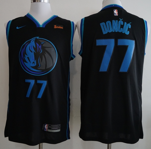 Men NBA Dallas Mavericks #77 Doncic Simmons Swingman City Edition Jersey