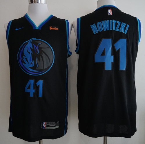 Men NBA Dallas Mavericks #41 Nowitzki Simmons Swingman City Edition Jersey
