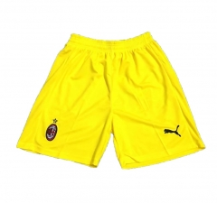 AC Milan Yellow Goalkeeper Short Pants 2018-2019