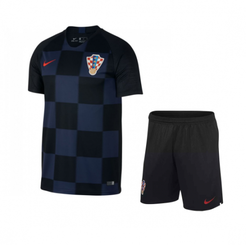 Youth Croatia Away Uniform 2018-2019 ,Jersey+Shorts[China Quality]