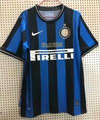 2009-2010 Inter Milan Home UCL Final Version Retro Soccer Jersey Shirt