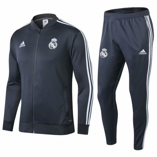 Real Madrid Grey Jacket Suit 2018-2019