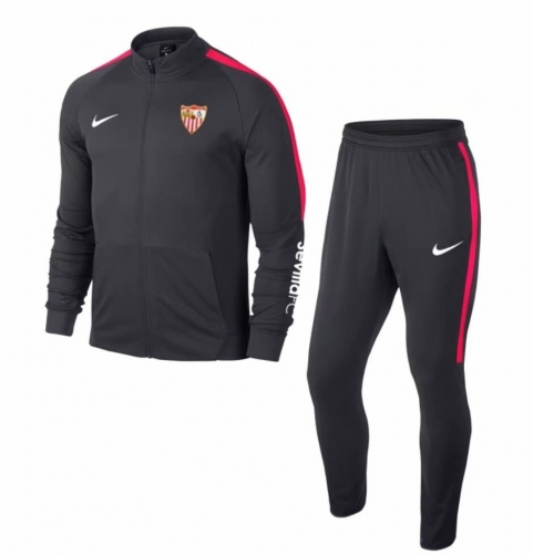 Sevilla Black Jacket Suit 2018-2019