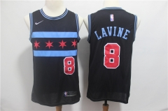 Men NBA Chicago Bulls #8 LAVINE Swingman City Edition Jersey Black