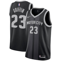 Men NBA  Detroit Pistons #23 GRIFFIN Swingman City Edition Jersey-2019