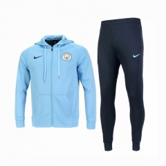 Manchester City Blue Hoodie Jacket Suit 2018-2019