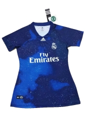 2018-2019 Real Madrid Blue EA Sports Women's Special Soccer Jersey