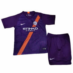 Youth Manchester City Third Away Uniform 2018-2019 ,Jersey+Shorts[China Quality]