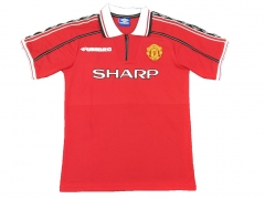 1998-1999 Manchester United Home Retro Soccer Jersey Shirt