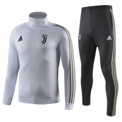 Juventus White High Collar Training Suit 2018-2019