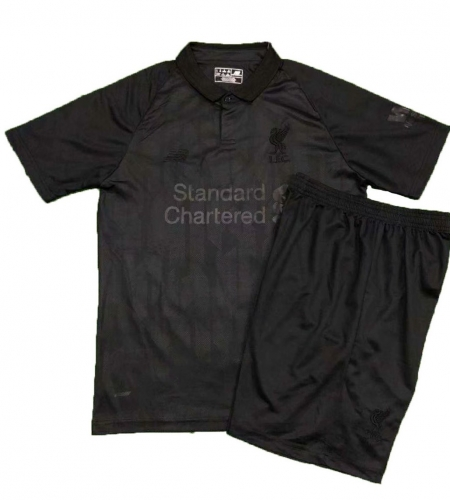 Youth Liverpool Black Blackout Limited Edition Uniform 2018-2019 ,Jersey+Shorts[China Quality]