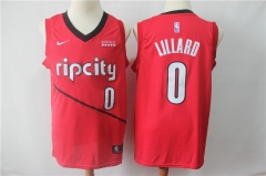 Men NBA Portland Trail Blazers #0 Lillard Red Jersey