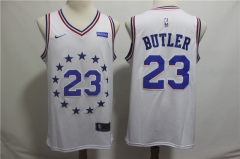 Men NBA Philadelphia 76ers #23 BUTLER White Jersey
