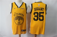 Men NBA Golden State Warriors #35 Kevin Durant Swingman Jersey-2019-Yellow