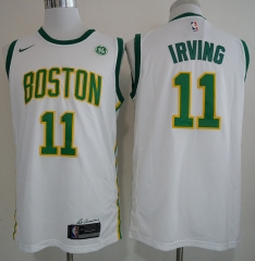 Men NBA Boston Celtics #11 Irving Statement Swingman Jersey-2019