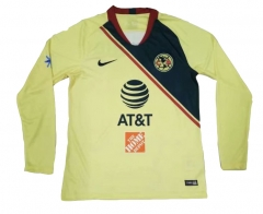 Club America Home Long Sleeve Soccer Jersey Shirt 2018-2019