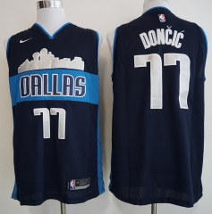 Men NBA Dallas Mavericks #77 Doncic City Edition Jersey-2019
