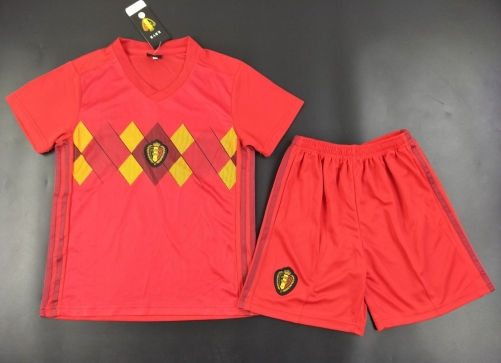 Youth Belgium Home Kids Sets 2018/19,Jersey+Shorts [Without Logo]