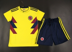 Youth Colombia Home Kids Sets 2018/19,Jersey+Shorts [Without Logo]