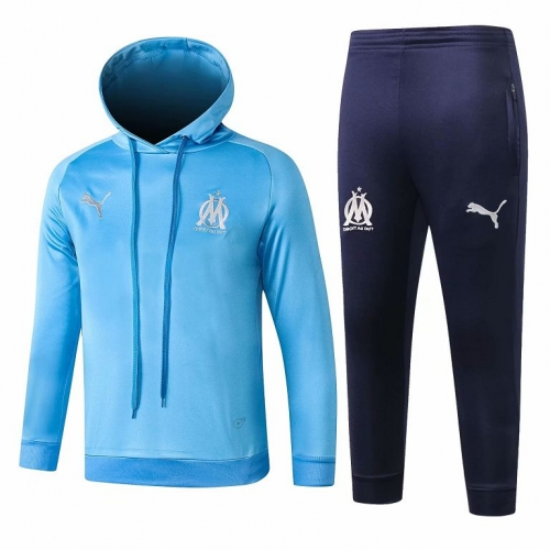 Youth Marseille Blue Hoodie Training Suit 2018-2019