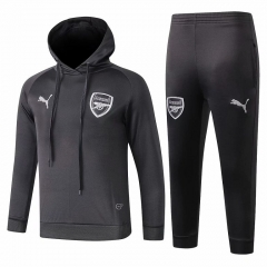 Youth Arsenal Grey Hoodie Training Suit 2018-2019