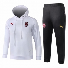 Youth AC Milan White Hoodie Training Suit 2018-2019