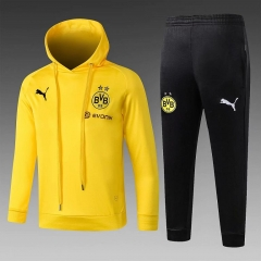 Youth Borussia Dortmund Yellow Hoodie Training Suit 2018-2019