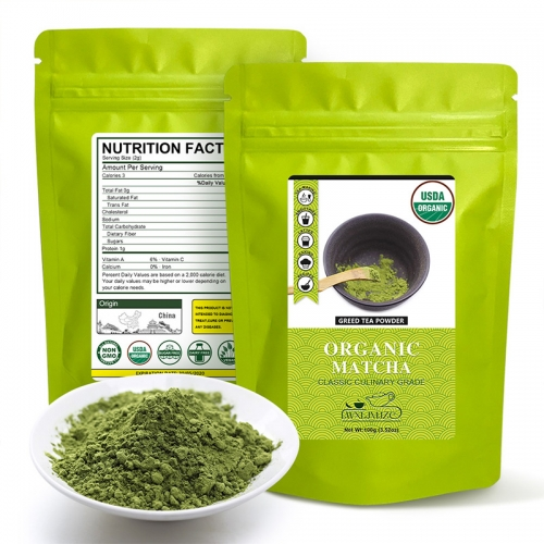 100g Organic Matcha Green Tea Powder | USDA Certified Matcha Powder | Best for Making Smoothies, Lattes, Baking,Matcha Tea