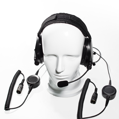 Dual communication tactical hearing protection headset