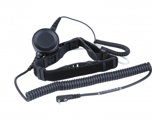 Heavy duty throat microphone headset