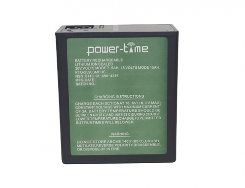 BB-2590/U Li-ion battery with SMBUS