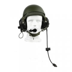 DH-132 CVC helmet headset with Y cable 2 U229/U connector