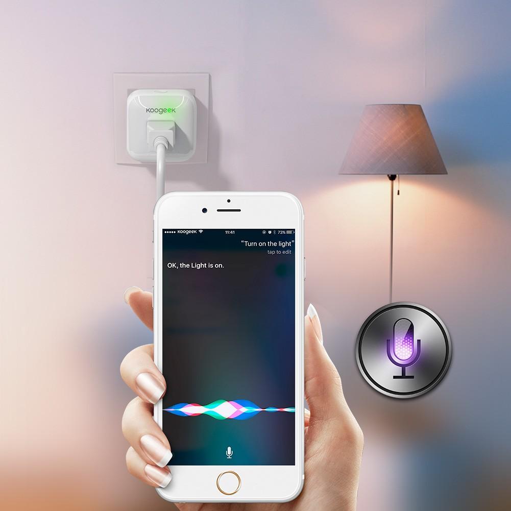 Koogeek Home Smart Plug Wi-Fi Enabled with Apple HomeKit Technology Support  Siri Control Electronics Monitor Energy Consumption