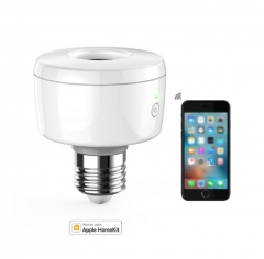 Wi-Fi Enabled Smart Socket E27 Light Bulb Adapter Works with HomeKit Support Siri Voice Control Home App Schedules Timers