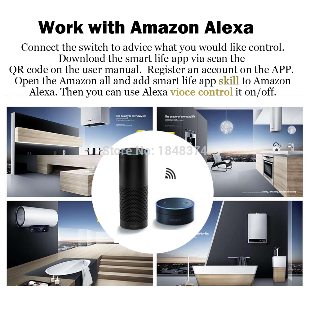 Smart Home Alexa Echo Voice Control Wifi Switch Universal