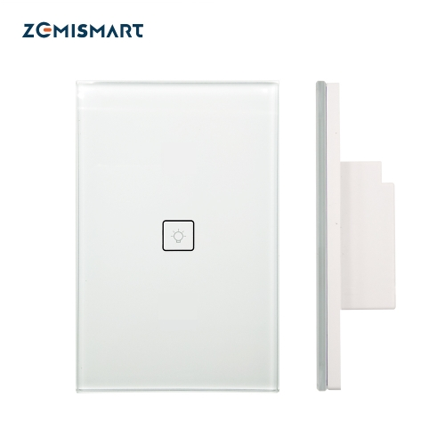 Zigbee One Gang Wall Light Switch Work With Amazon Alexa Google Home via Zemismart hub Smarthings Bridge APP Phone Voice Control