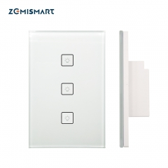 Zemismart 3 Gang Smart Light Switch Work With Amazon Alexa Google Home via Zemismart hub Smarthings Bridge APP Phone Voice Control