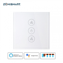 Zemismart EU Alexa Google Home Smart Ceiling Fan Switch Support Timer Speed Group Control
