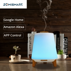 Smart Essential Oil Aroma Diffuser Cool Mist Humidifier RGB LED Desk Lamp Work with Alexa Google Home Voice APP Control