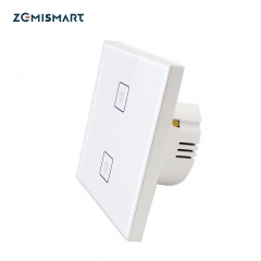 Zigbee 3.0 2 Gangs EU Wall Light Switch Work With Amazon Alexa Google Home via SmartThings Bridge APP Phone Voice Control