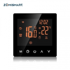 Heating wifi Thermostat for Electric Floor Heater with LCD Touch Screen Weekly Programmable Home Automation