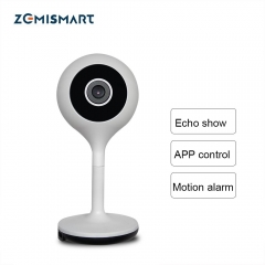 Zemismart wifi cctv Work with Alexa Echo Show APP Control 1080P Support Two-way Audio SD Card Night View Motion Monitor