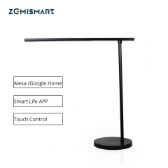 WiFi LED Desk Lamp Dimmerable Alexa Google Home Voice Smart life APP Manual Touch Control Black