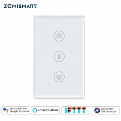 Zemismart New Design US WiFi Curtain Switch Alexa Google Home Smart Life TUYA Blind Wall Switches